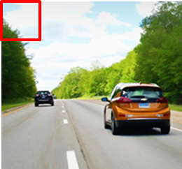 Object detection example with a sliding window
