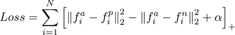 triplet loss function detailed in the facenet paper