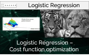logistic regression - cost function optimization