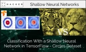 classification with a shallow neural network in tensorflow - circle dataset