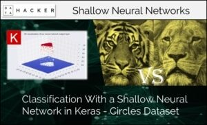 classification with a shallow neural network in keras- circle dataset