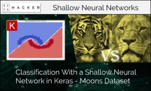 classification with a shallow neural network in keras - moon dataset