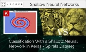 classification with a shallow neural network in keras- spiral dataset