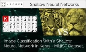 image classification with a shallow neural network in keras- MNIST dataset