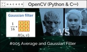 opencv - average and guassian filter