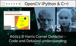 opencv - Harris corner detector - code and detailed understanding part 2