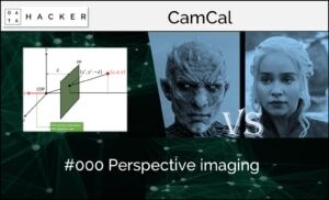 camera calibration - perspective imaging