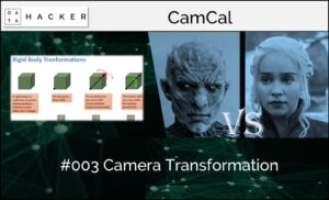 camera calibration - camera transformation