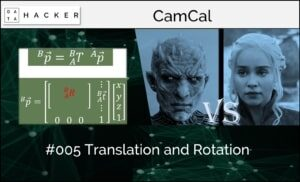 camera calibration - translation and rotation