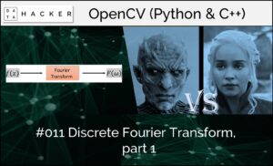 opencv - discrete Fourier transform, part 1
