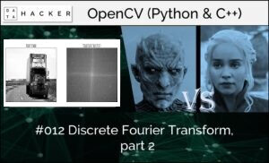 opencv - discrete Fourier transform, part 2