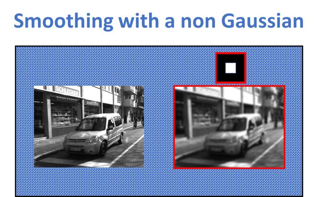 smoothing with a non-Gaussian filter