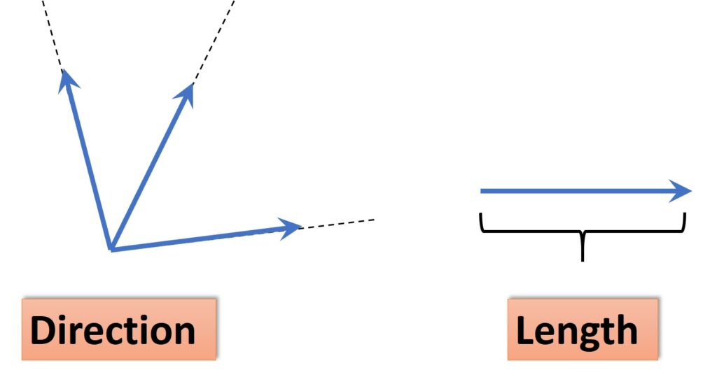 Vectors direction and length