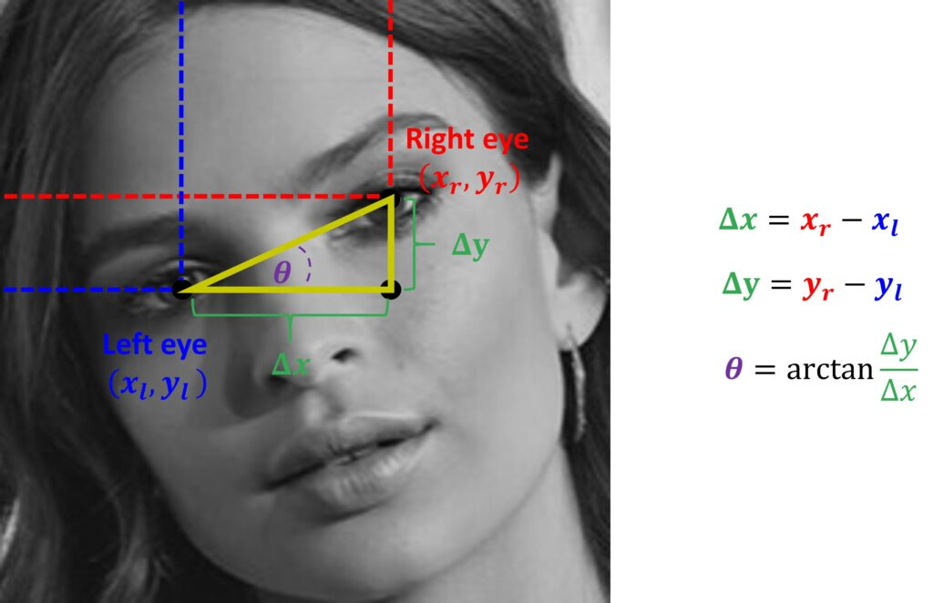 Face alignment in OpenCV