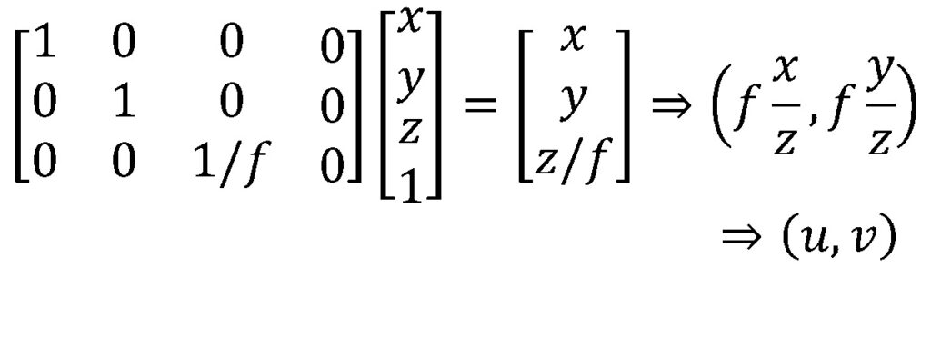 perspective-projection-linear-matrix-operation