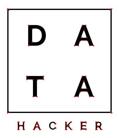 Testing the harris corner detector on the datahacker logo