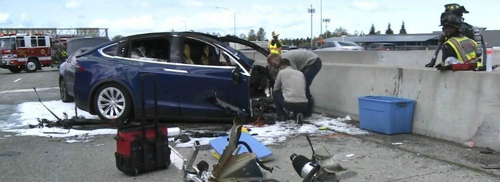 Tesla Model X  fatal accident
