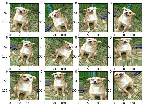 Dog augmented images