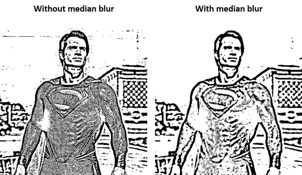 Median blur OpenCV