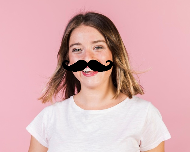 mustaches openCV