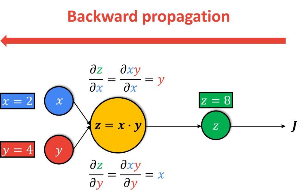 Computational graph backward pass